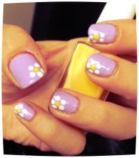 Easy flower nail art | Nails | Pinterest | Flower, Girls ...