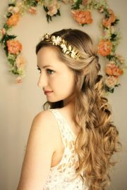goddess flower crown laurel leaf