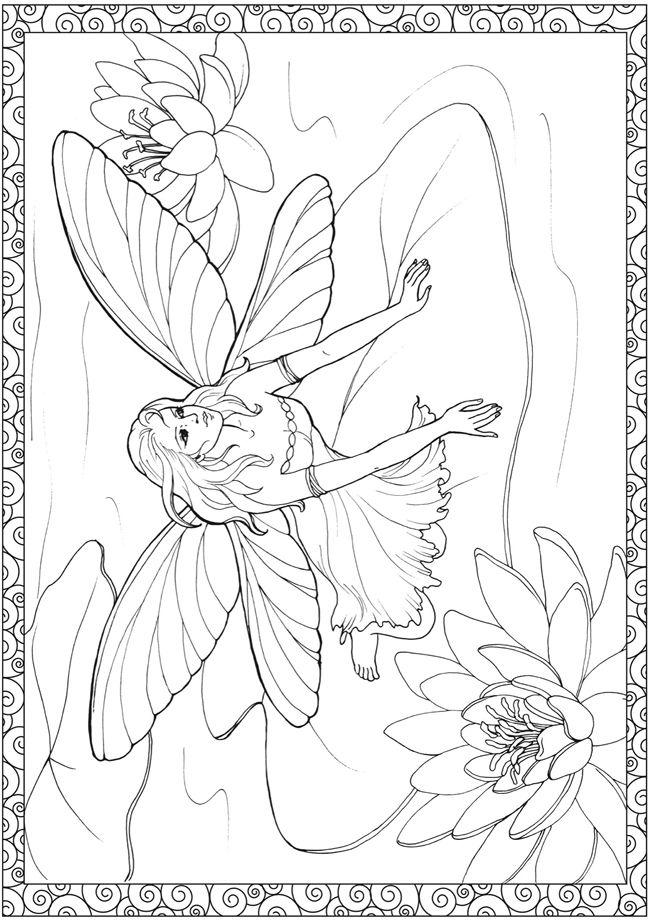 1000+ ideas about Fairy Coloring Pages on Pinterest