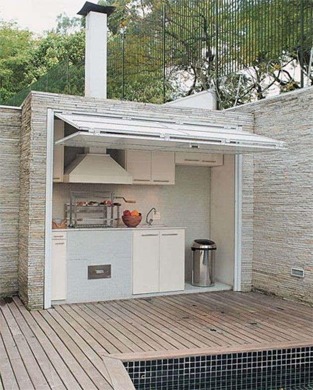 Cucine da esterno  Cucina bianca da esterno  Barbecue