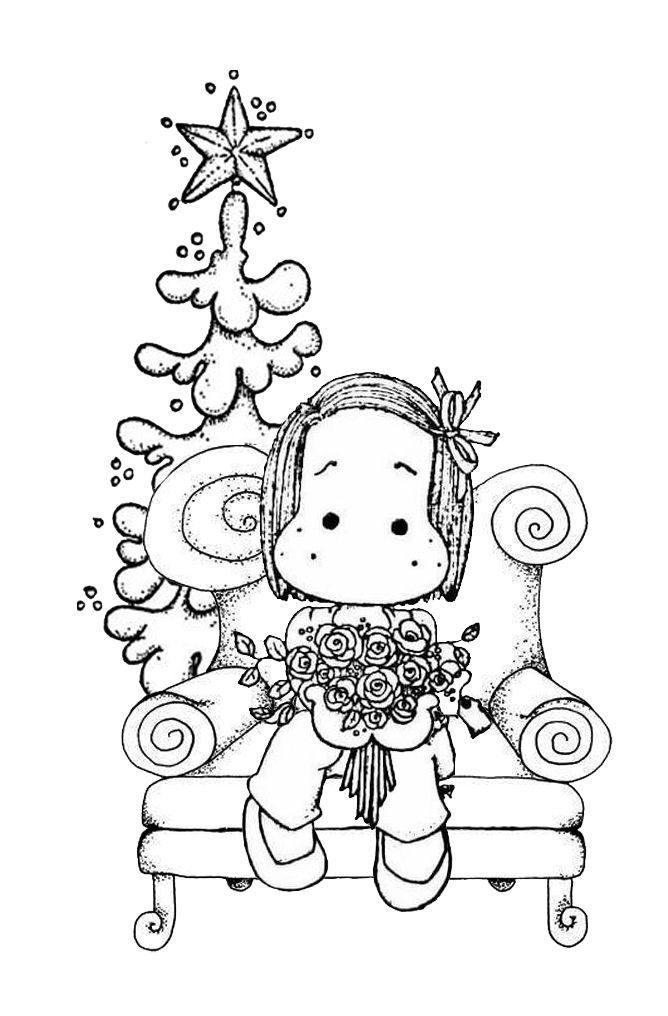 Christmas Stamp Coloring Page Sketch Coloring Page