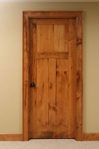 Shaker style 3 panel Knotty Pine interior door. | Interior ...