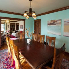 Yellow Paint Ideas For Living Room Black Wall Units Formal Dining Room, Teal Color, Red Rug With Blue And ...
