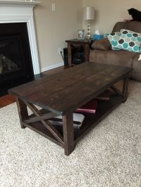 Rustic X coffee table built from Ana White plans ...