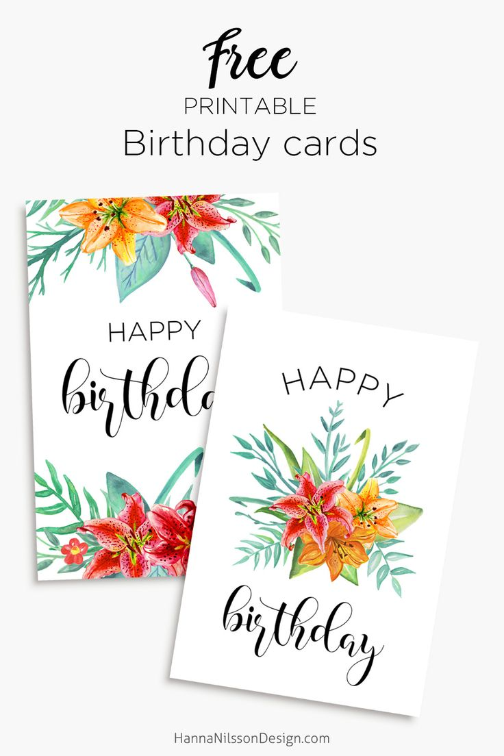25 Best Ideas About Free Printable Birthday Cards On