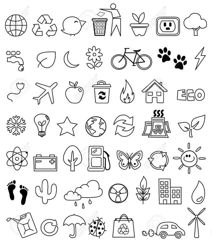Eco Doodles Stock Vector