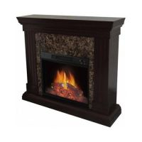 Electric Fireplace W/ Mantle Adjustable Flame Living Room ...