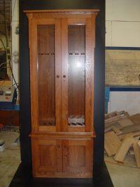 Stained oak gun cabinet | Gun Cabinets | Pinterest | Gun ...