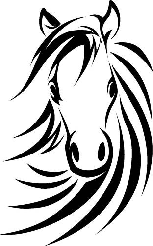 Horse head, Large wall art and Room girls on Pinterest
