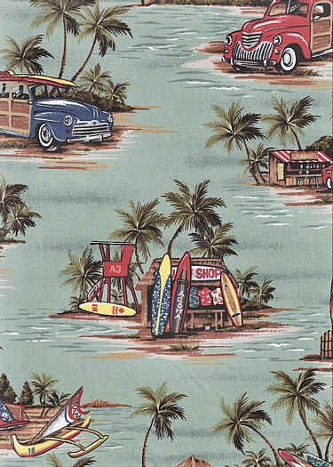 70halawa from Barkcloth Hawaii fabric sho A sage green