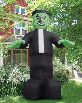 Halloween yard decorations Frankensteins monster and
