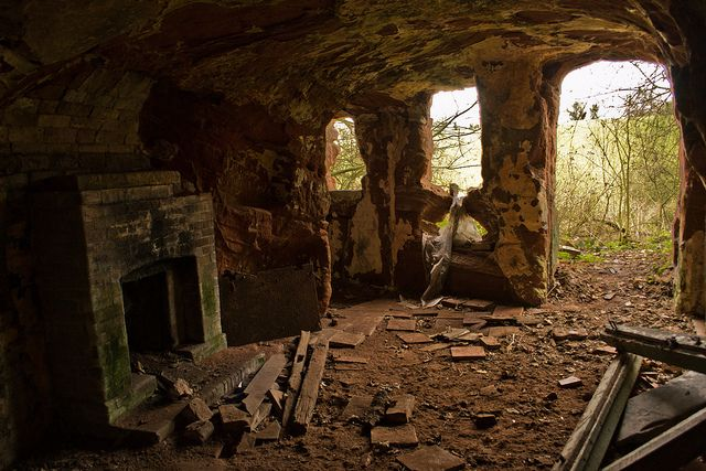 summer kitchens kitchen island with sink samson's cave, west midlands | ruins, abandoned places ...
