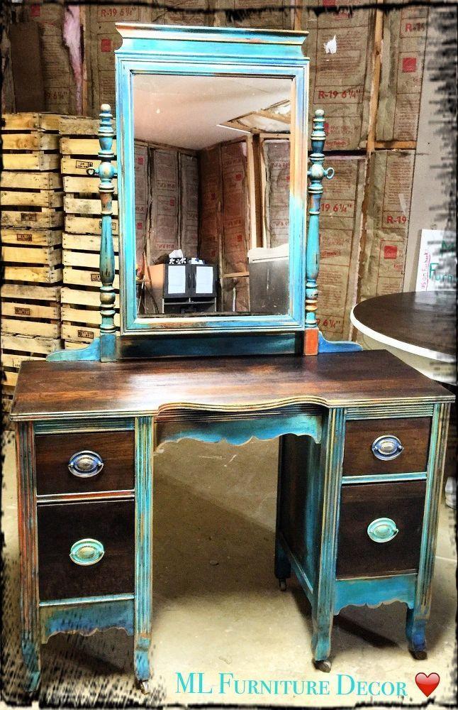 Antique Vanity RefinishingA 35 Garage Sale Find