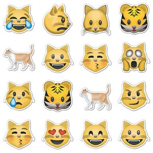 Emojis Cats and Stickers on Pinterest