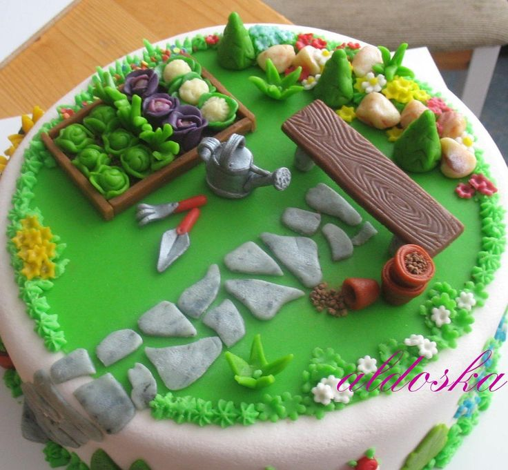 The 25 Best Garden Birthday Cake Ideas On Pinterest Fairy