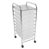 8 DRAWER WHITE BEAUTY SALON HAIR DRESSING KITCHEN BATHROOM