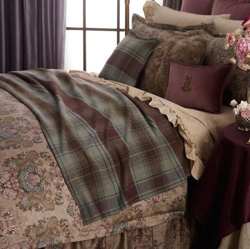 Ralph Lauren Margeaux Plaid Brown Green FULLQUEEN Bed