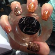 orange and brown glitter thanksgiving