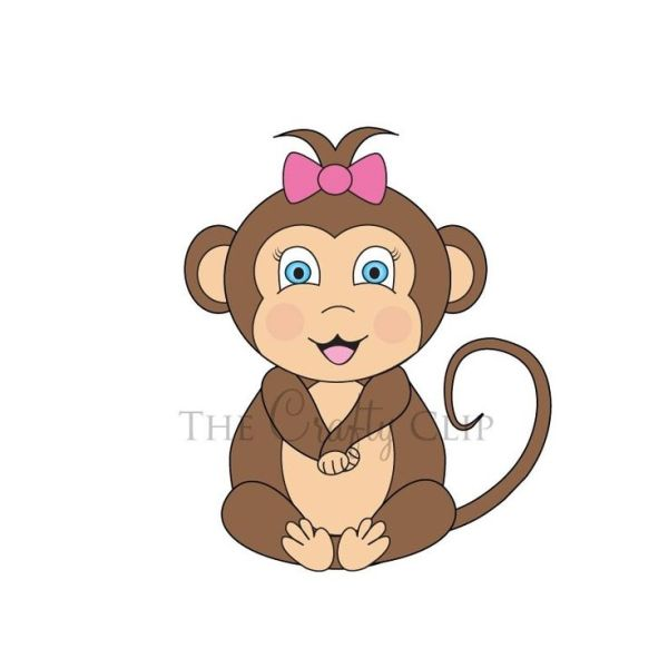 baby monkey clip art
