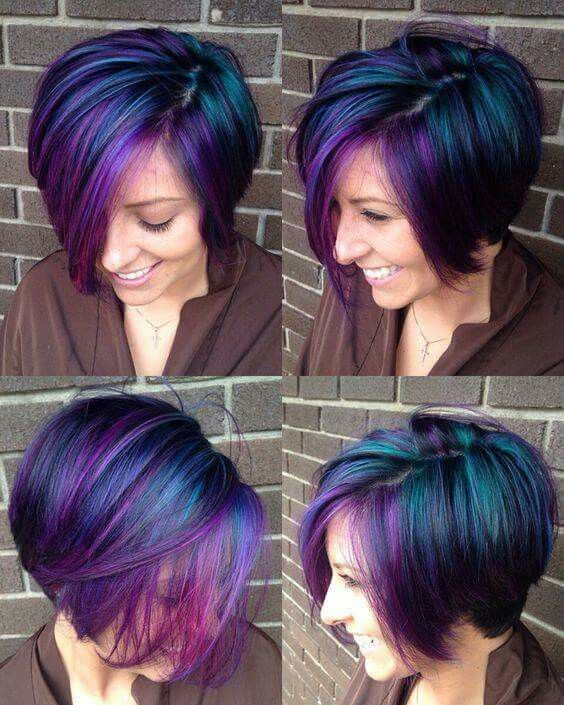 25 best ideas about Peacock hair  color  on Pinterest