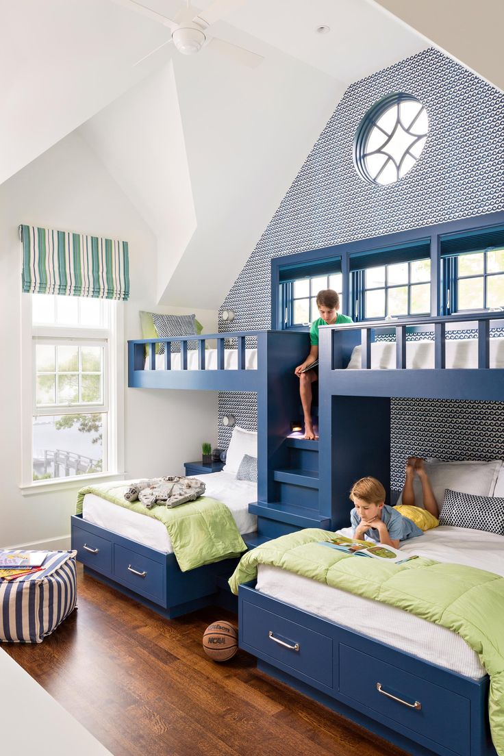 17 Best ideas about Bunk Bed Rooms on Pinterest