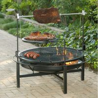 Round Rock Fire Pit & Charcoal Grill - 48 ...