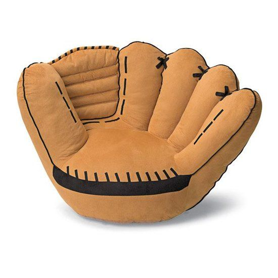 Baseball Glove Sofa Chair  great for reading  For Kids