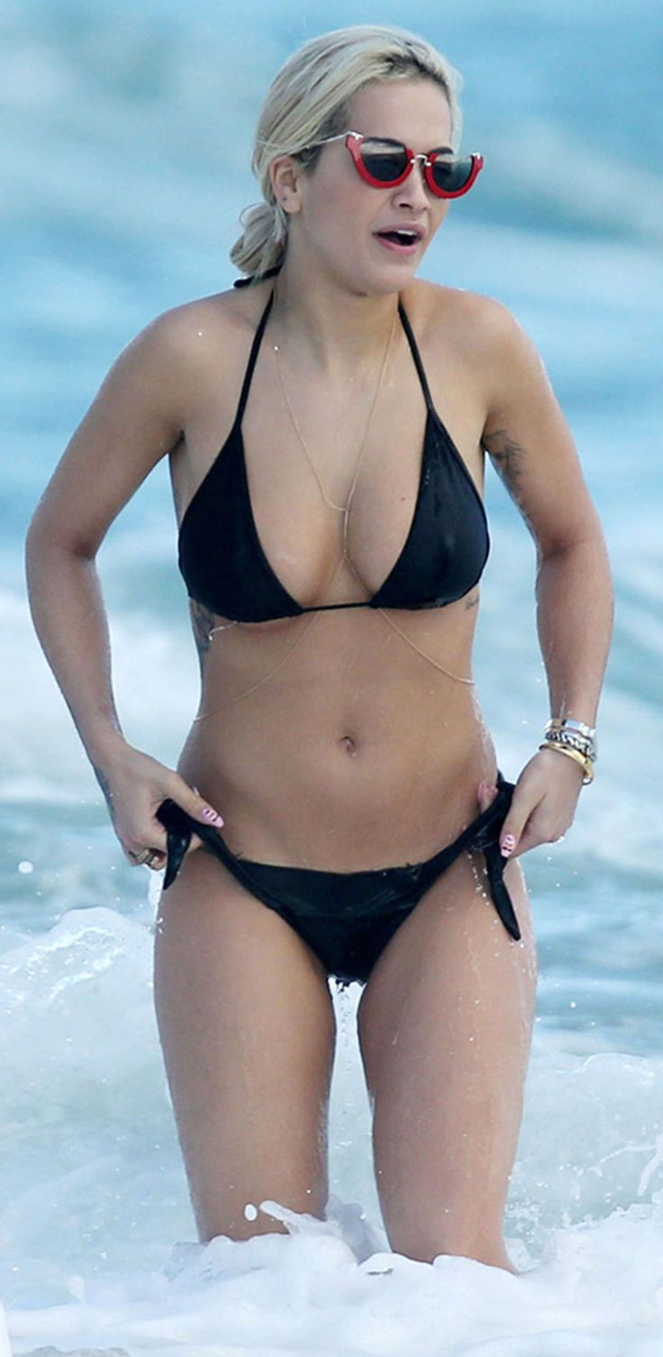 Rita Ora Black Bikini Candids In Miami  rita ora  Pinterest  Black bikini Posts and Rita ora