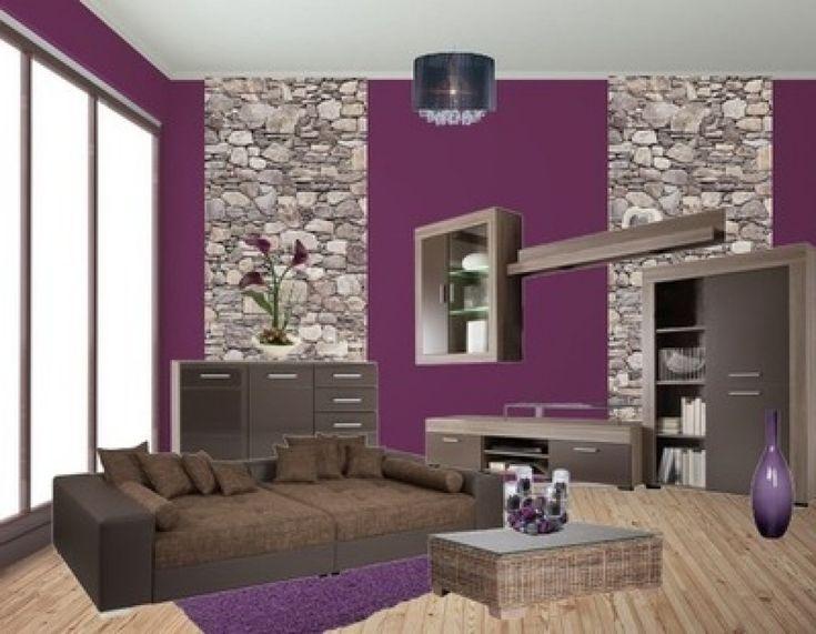 weiss grau wohnzimmer mit violett deko m246belideen