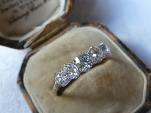 The 5 Stone Ring Thread Engagement Ring Stones And