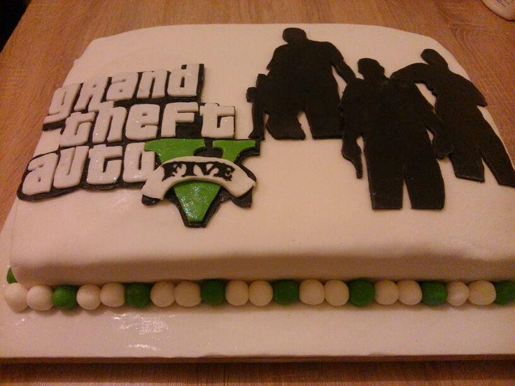 Grand Theft Auto 5 Cake Kids Birthday Cake Ideas