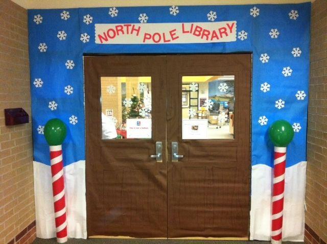 CRJH Library December door decor contest entry