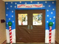 CRJH Library December door decor contest entry