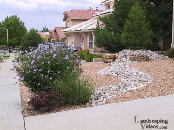 small front yard desert scene