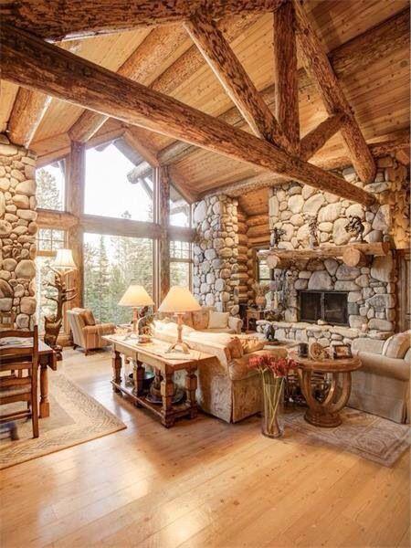 65790f6051695d5bfcf9cbca2b351d0bjpg 450600 pixels  Montana home  Pinterest  Cabins Stone