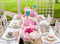 Full tea party table setting | Creative Party Ideas ...