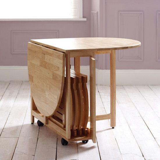 drop leaf kitchen tables for small spaces cabinet door replacement lowes folding dining table on wheels + foldable chairs that fit ...