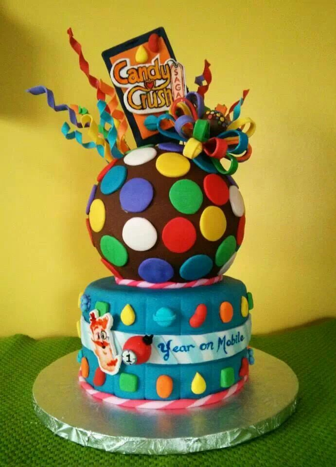 Candy Crush cake  Beautiful Kids Cakes  Pinterest  Cakes Change 3 and Crushes