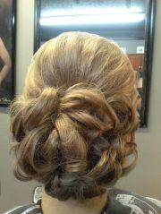 flower bun formal style wedding