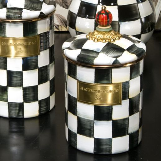 black and white Kitchen Canister Sets  with this black