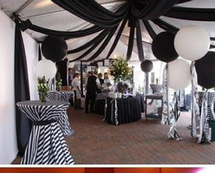 Black White And Teal Party Decorations