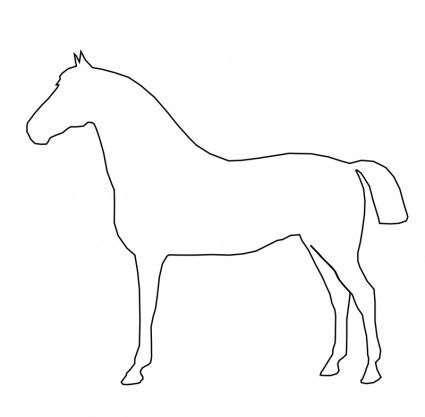 Free vector Vector clip art Simple Horse File size: 0.04
