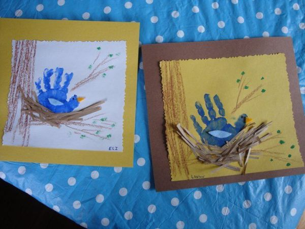 Cute spring handprint art quot preschool ideas