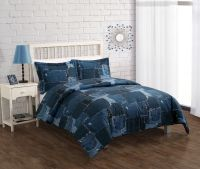 Bed Threads Jean Patch Comforter Set