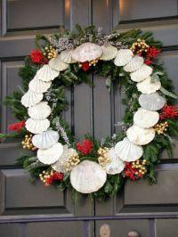Williamsburg wreath featuring shells | christmas ...
