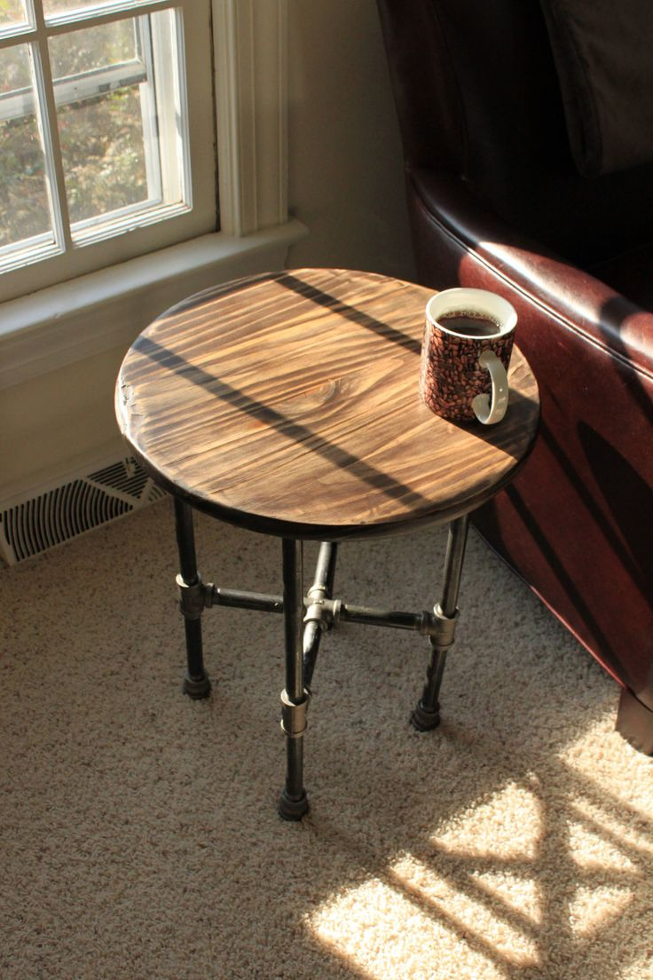Hand Scraped Industrial Iron Pipe Table 12000 via Etsy