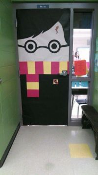 My handiwork, @lizgray317 ! Harry Potter door! Elementary