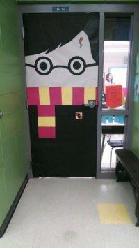 My handiwork, @lizgray317 ! Harry Potter door! Elementary