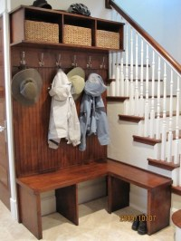 Built In Bench with Coat Rack | Mudroom / Laundry-room ...