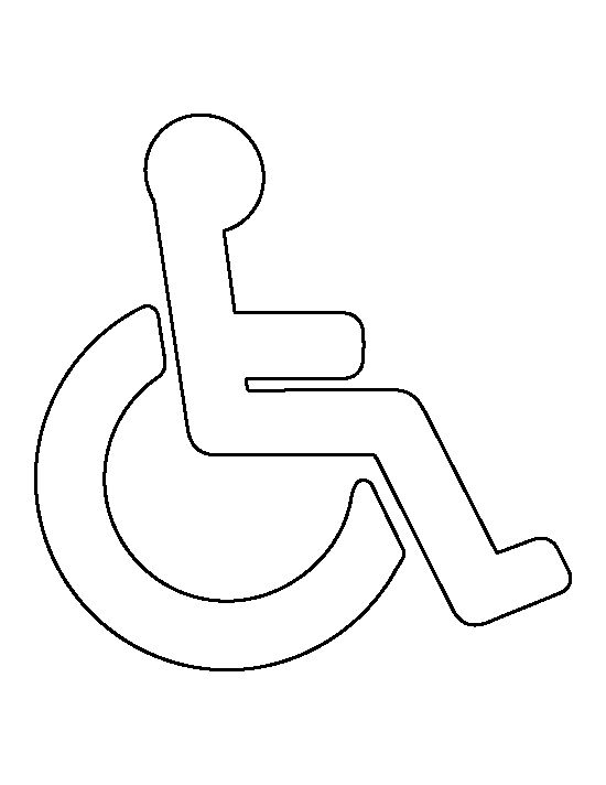 Handicap symbol pattern. Use the printable outline for